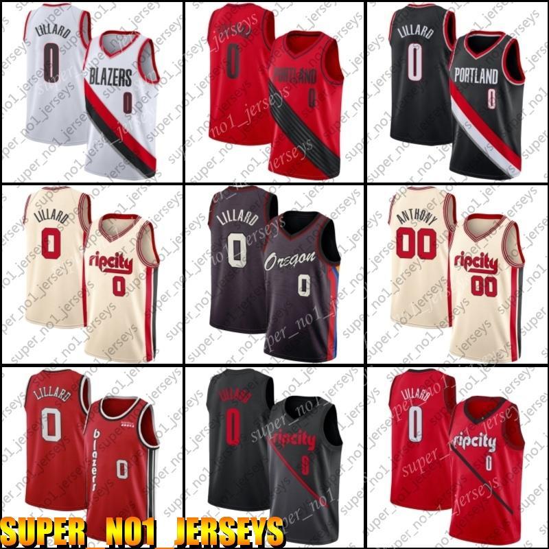PortlandBlazers da trilha.Jersey Damian Blazer Lillard Jersey Carmelo 00 Anthony Jerseys Basketball CityEdiçãoJersey 54mhs.
