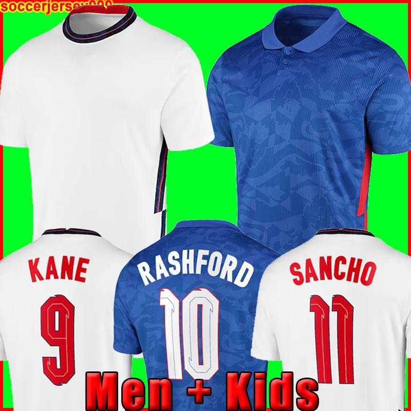 Maglia da calcio ENGlAND Inghilterra 2020 2022 KANE STERLING RASHFORD SANCHO HENDERSON BARKLEY MAGUIRE 20 22 maglia da calcio nazionale da uomo + set di kit per bambini