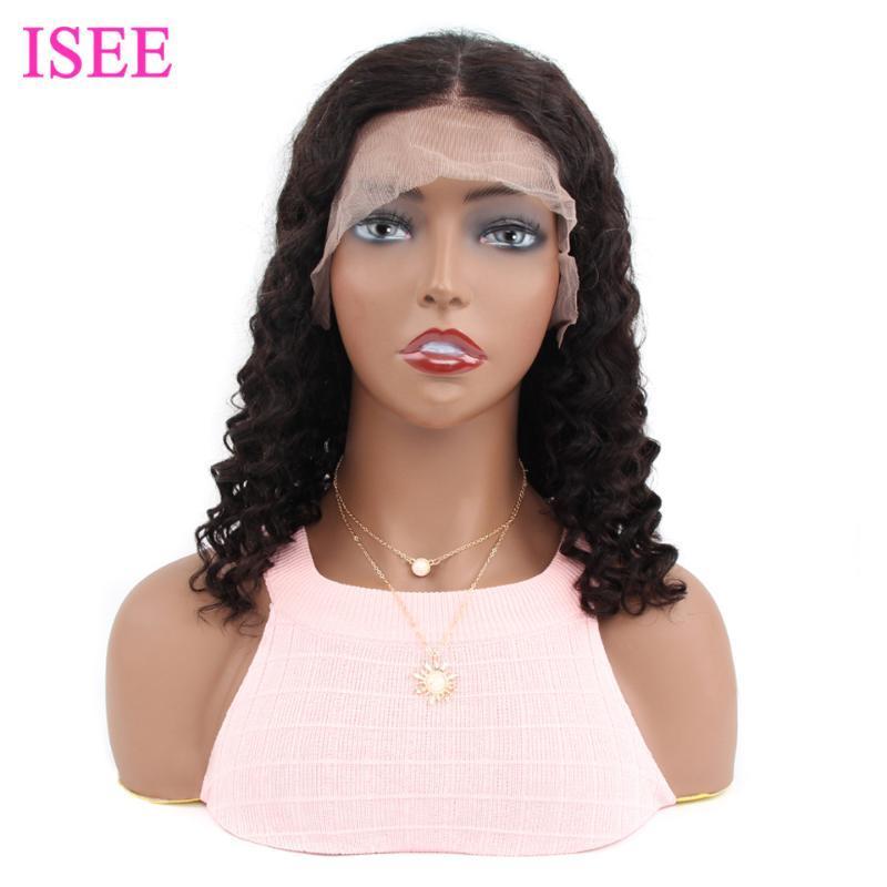 Lace Wigs Deep Wave 4x4 Closure Short Bob Malaysia Human Hair 13X4 Front Wig For Women