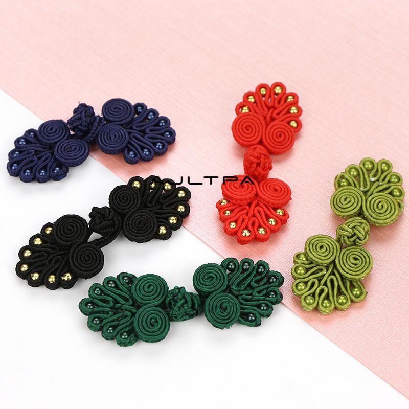 6000Pcs Multiple Styles Chinese Frog Button Closure Knot Button Cheongsam Buttons Sewing DIY Wedding Gift Box