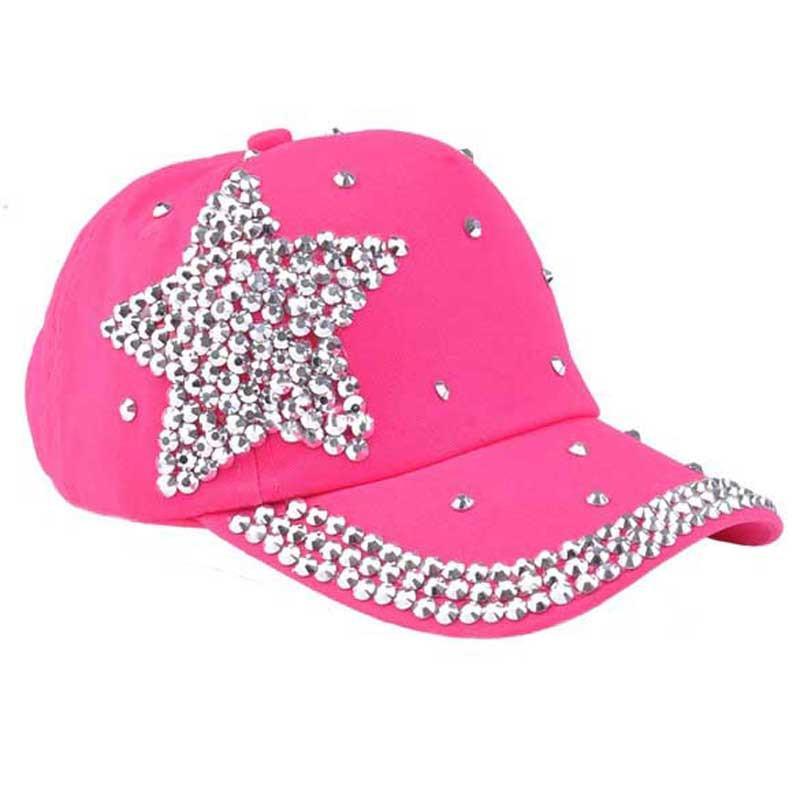 2021 Moda İlkbahar Yaz Sonbahar Ve Kış Kovboy Şapka Bayan Yaz Kore Moda Beyzbol Şapkası Elmas Güneş Çekilmiş Kap Sun Şapka