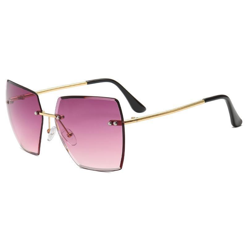 Gran marco cuadrado mujer oceano lente de sol sombra de sol gafas de sol para mujer abay 2021 nueva personalidad gradiente de fiesta UV400 Oculos