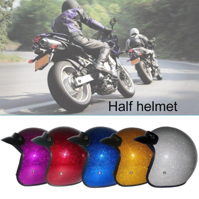 Cascos Cascos Casco de motocicleta Casco clásico Retro Dot Flash Personalidad Unisex Colorido