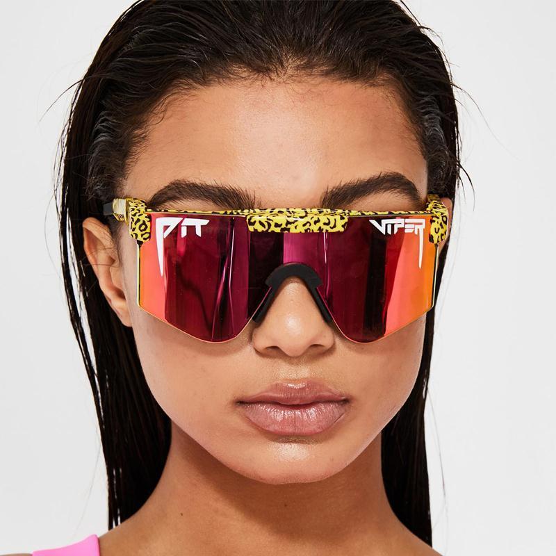 Gafas de sol originales del hoyo real Gafas + Caja SXHJR Marco colorido VIPER PLAZADO COMPLETO POLLADO POLAREZADO COMPLETO PNRDR a prueba de viento