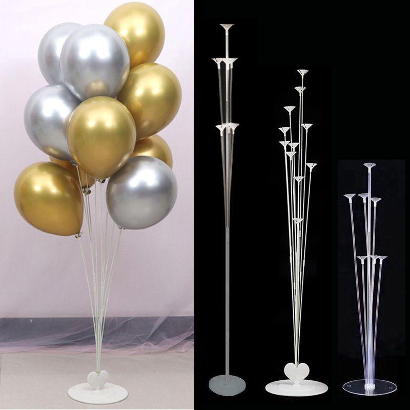 7/11 Tüpler Hava Topları Stand Stick Balon Standı Tutucu Düğün Dekorasyon Metalik Balonlar Yetişkin Doğum Günü Balonları Parti Malzemeleri