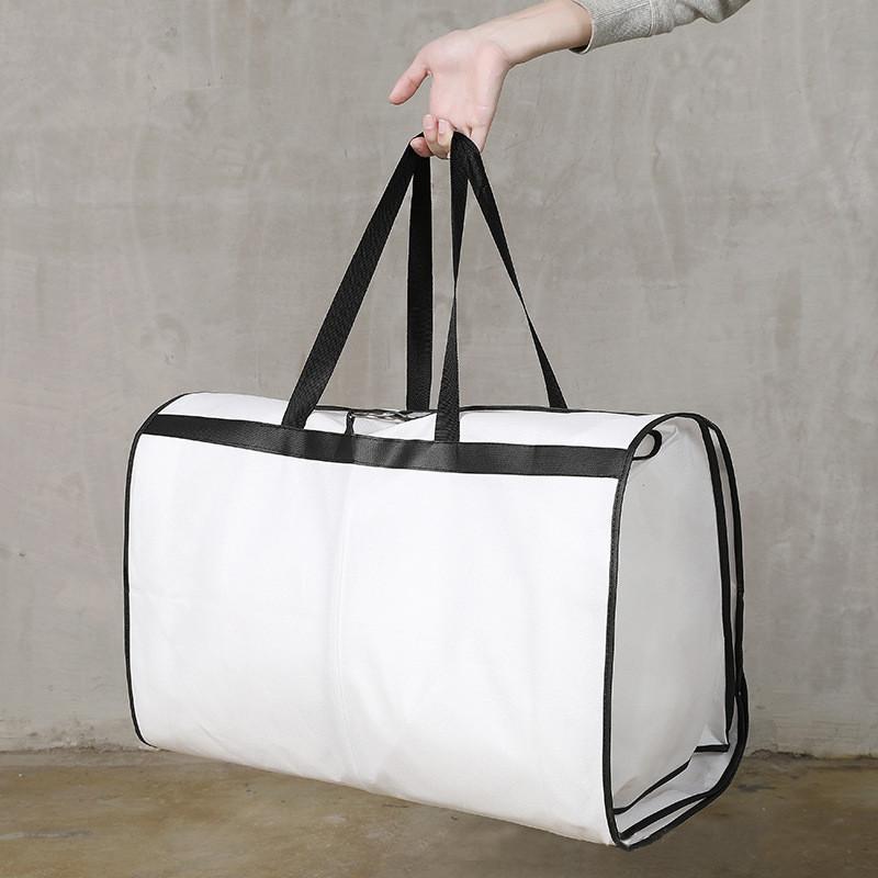 Белая нетканая сумка для хранения PVC для свадебного платья для свадебного вечеринка костюмы мешочек путешествия мешок с молнией пылезащитный чехол Организатор одежды CPA2937