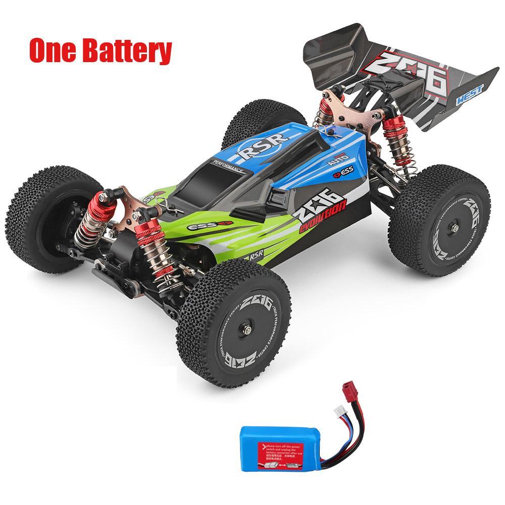 144001 1/14 2.4G Racing RC Автомобиль 4WD Высокоскоростная дистанционная контроль Модели автомобиля Игрушки 60 км / H Обеспечение качества для детей Лучший подарок