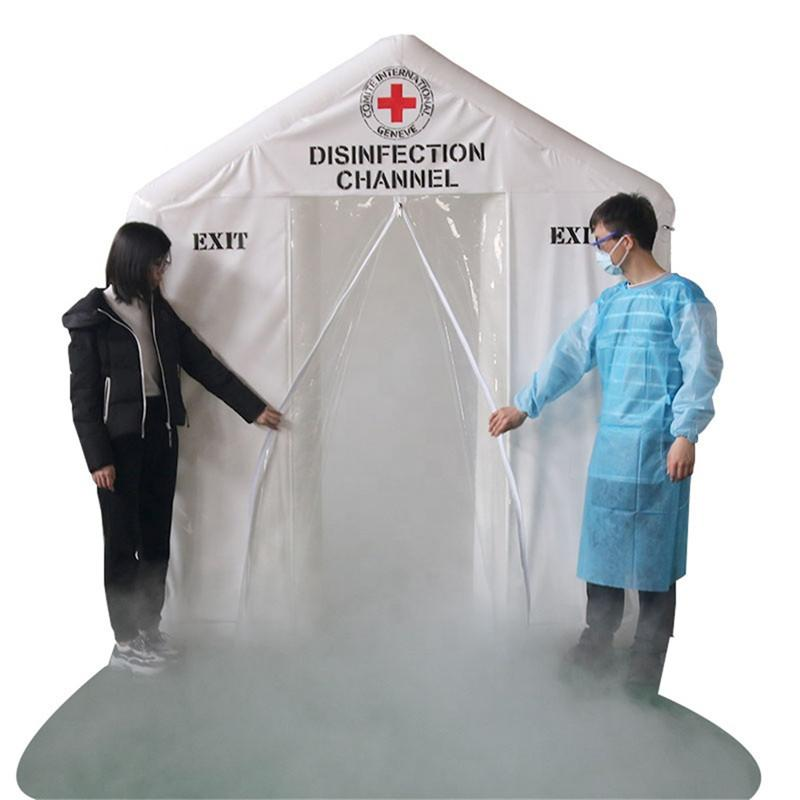 2x2x2.5m Portable Equipments Inflatable Disinfection Tunnel airtight Sanitizing tent spray gate for medical emergency
