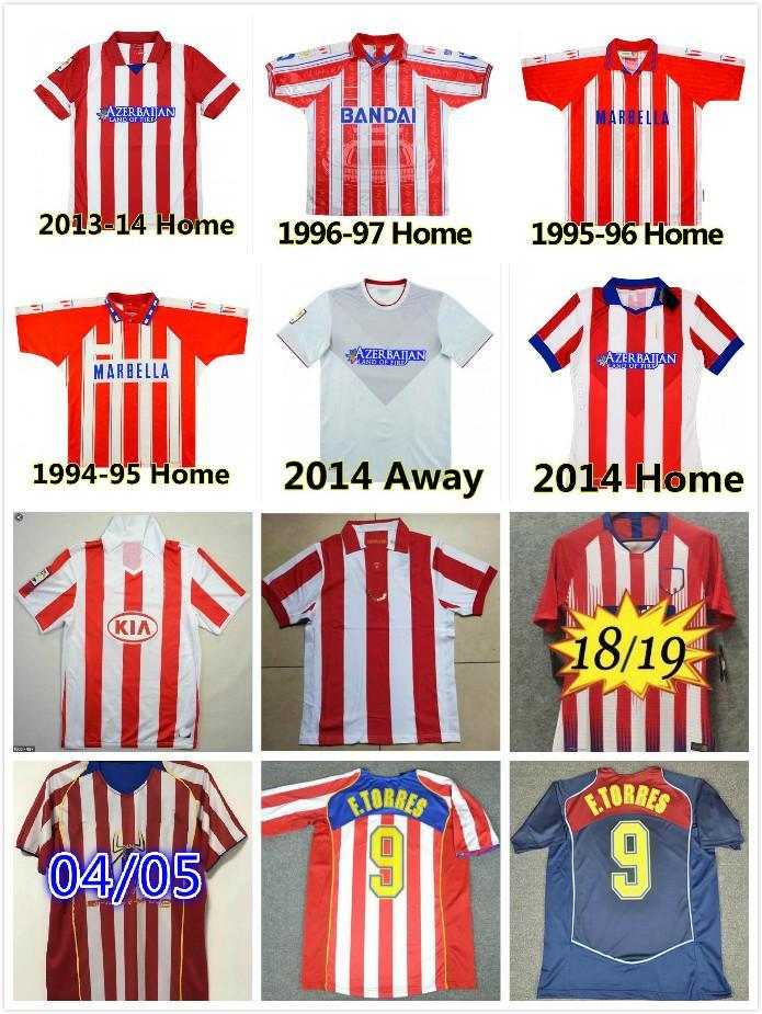 Retro 2003 2004 2005 Centenary Atletico Futbol Formaları 1994 1995 1996 1997 10 11 13 14 15 Torres Simeone Kiko Caminero Futbol Futbol Gömlek Klasik Maillots Madrid