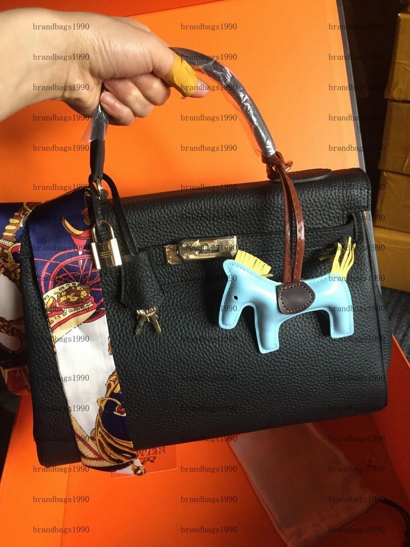 32 cm 28 cm 25 cm moda donne borse a tracolla Borse a tracolla Designer classico con serratura stampata Lady bowhide in vera pelle borsetta in oro e argento hardware
