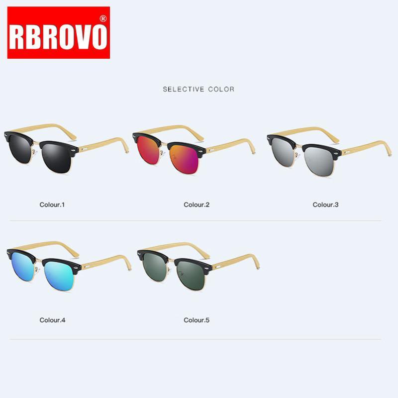 2021 Conducción de gafas de sol polarizadas Hombres UV400 Square Mirror Bambú Gafas de sol Retro Alta Calidad Lunette De Soleil Homme