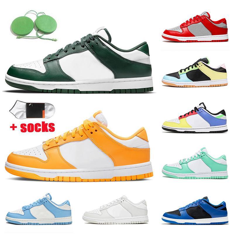 2021 Spartan Yeşil Lazer Turuncu SB Dunk Kaykay Koşu Ayakkabıları Düşük Kadın Erkek Eğitmenler Sahil Foton Tozsuz 99 Paskalya Açık Atletik Sneakers