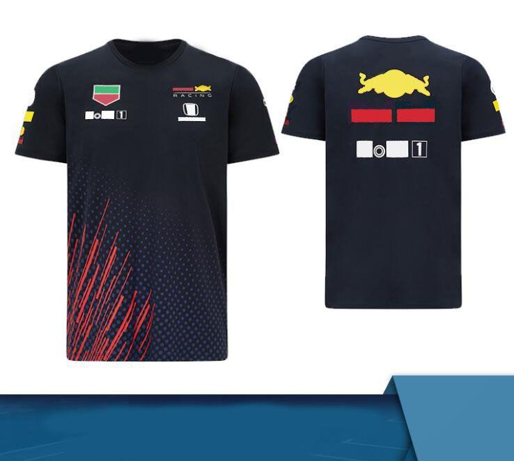 F1 Equipo 2021 Equipo de temporada Uniforme de manga corta Poliéster Secado rápido Customizable Motorcycle Racing Traje Camiseta cuesta abajo Suma de manga corta