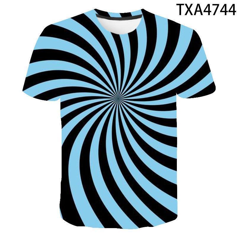 Camisetas para hombre Tela escocesa Vertigo 3D Impreso Tshirt Boy Girl Cool O-cuello de manga corta Hombres Mujeres Casual Streetwear Tee Niños Tops divertidos