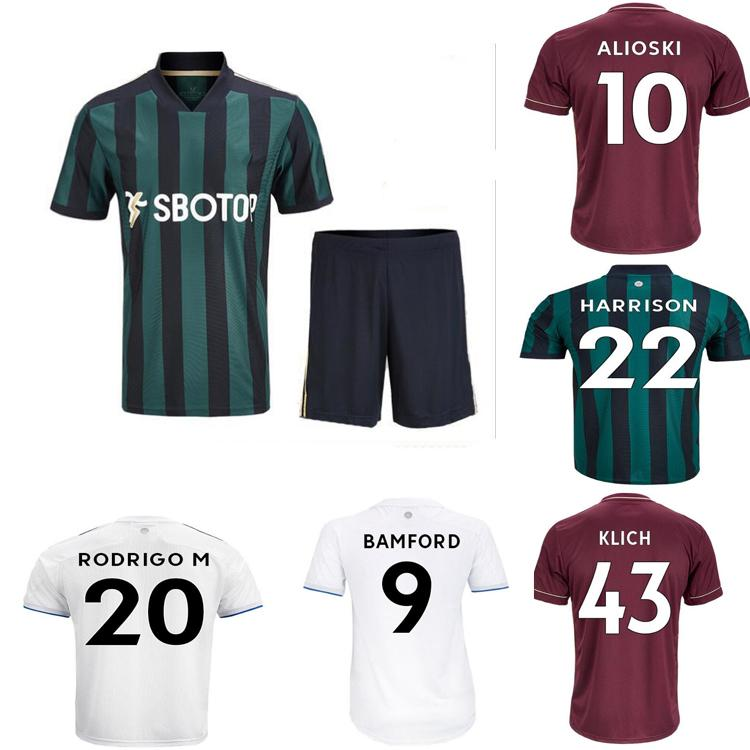 VIP20 21 Leeds Home Jerseys de futebol United T Roberts 2020 2021 Jersey Harrison Klich Alioski Bamford Men's + Terno das Crianças Camisas de futebol