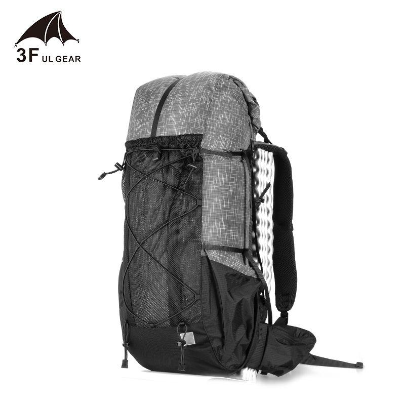 3F UL Gear Ultralight Senderismo Mochila Paquete de camping ligero Viajes Montañismo Mochilero Trekking Mochilas 45L 210304