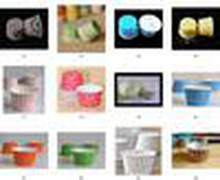 مزيج الألوان جولة ورقة الحالات الكعك، أكواب كعكة، حالات كب كيك، كوب خبز، مغلفة كب كيك