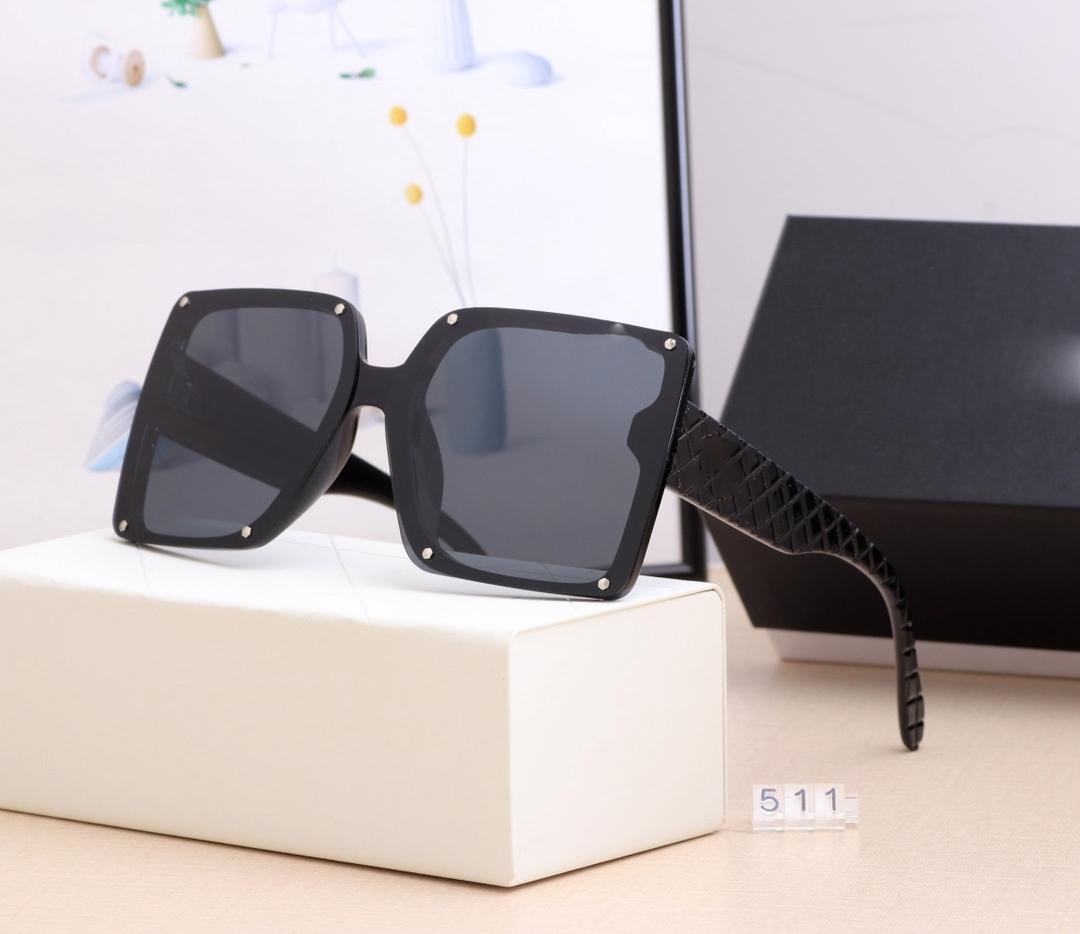 2021 Neue Modedesigner Sonnenbrille Hohe Qualität Marke Polarisierte Linse Sonnenbrille Brillen für Frauen Brillen Metal Fram 511