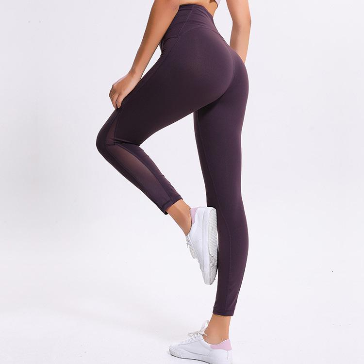 Летняя новая высокая талия Йога брюки женские фитнес Lu одежда сексуальная сетка быстрые женщины