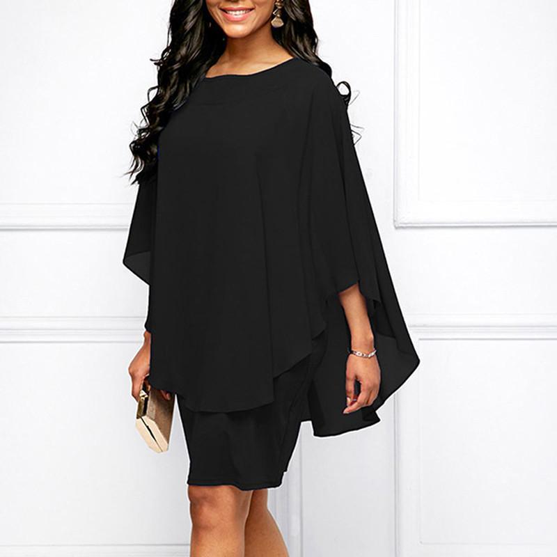 Женское летнее платье 2020 новый сплошной цвет стиль круглые шеи повседневные свободные плюс размер женщины платье