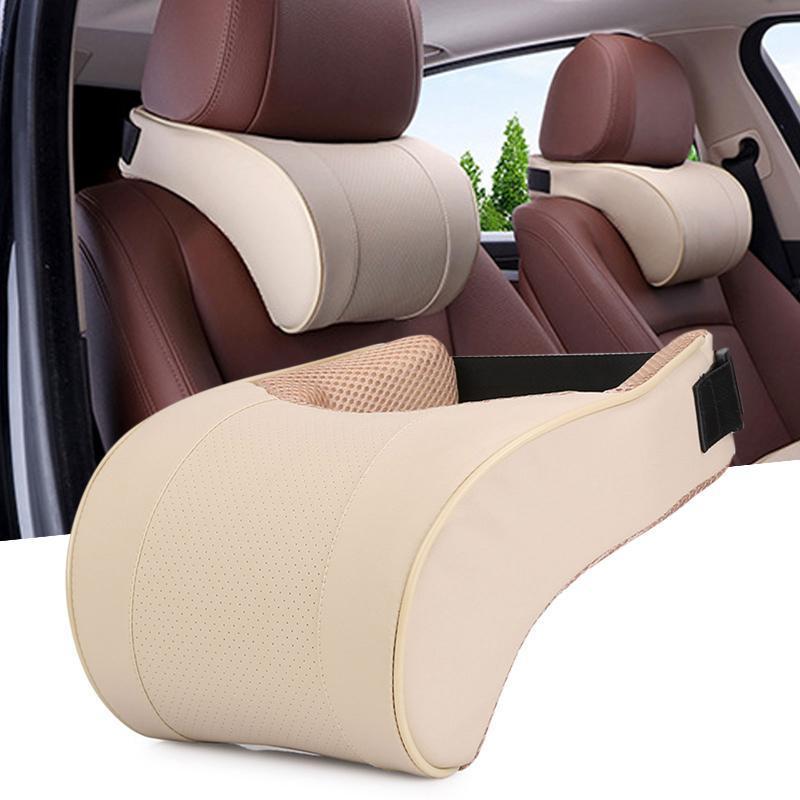 Подушки сидений PU кожаный автомобиль шеи защитник подголовник подушка медленно отскок хлопок задняя подушка