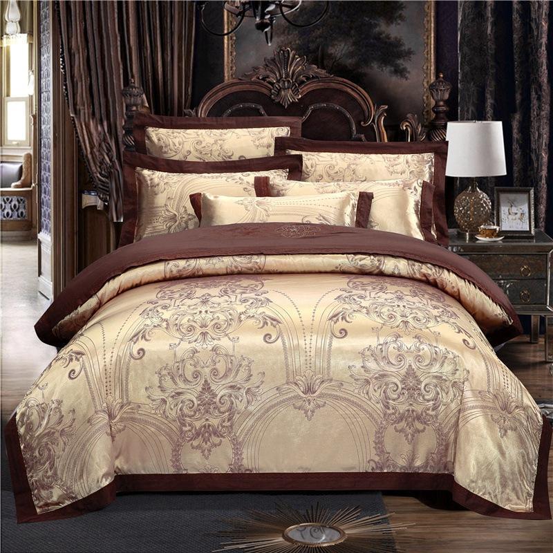 Bettwäsche-Sets Klassische reine Baumwolle Luxus Quilt Cover Kissenbezug Bett Blech Europäischen Stil Satin Home Textil König Königin Queen Twin für Erwachsene Ozeani