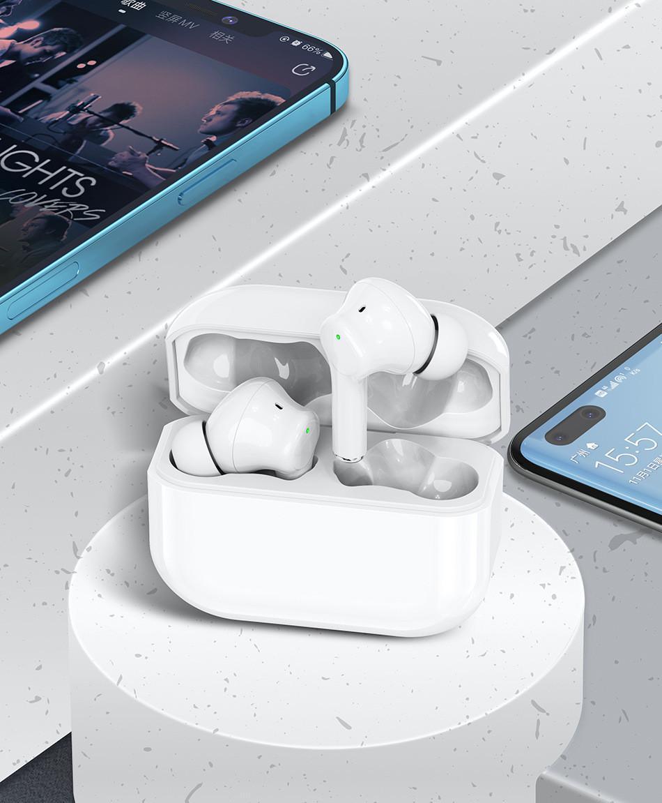 TWS 이어폰 GPS Rename Pro Up 창 블루투스 헤드폰 자동 구획 무선 충전 케이스 이어폰 일련 번호가있는 earbuds
