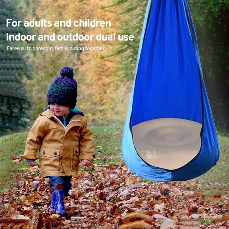 Camp Meubles Toy Swings Chair Enfant Enfant Hammock Hamac pour jouer au repos Soft Soin avec coussin gonflable Indoor / Extérieur Backy Backy