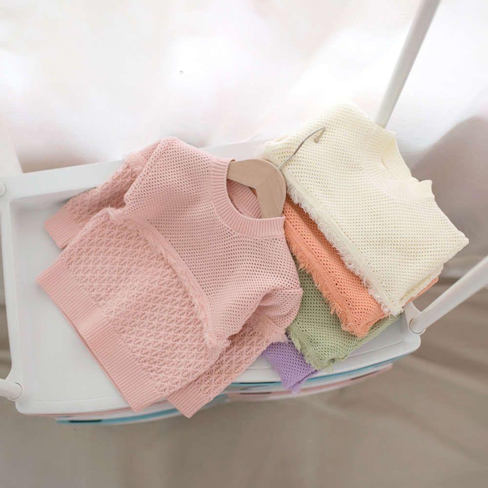 Enfants Vêtements Automne et hiver MMTKids Pull pour enfants Girls Multicolor creux Dentelle Top Y068