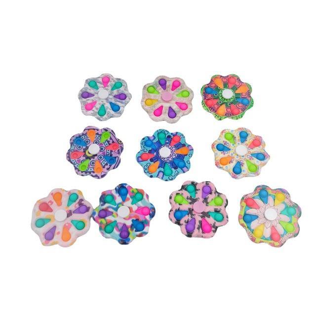 Colorido engraçado Popit Fidget Brinquedo 12 Lados Spinner It Pop Stress Relief Toys para Ansiedade Anti-Stress