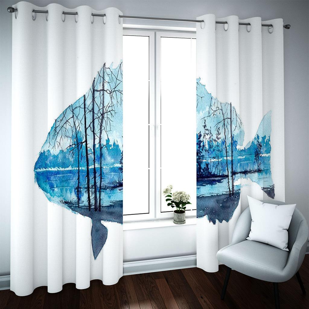 Çin tarzı 3d perde karartma kızlar için güzel peyzaj perdeleri oda dekor perdeler