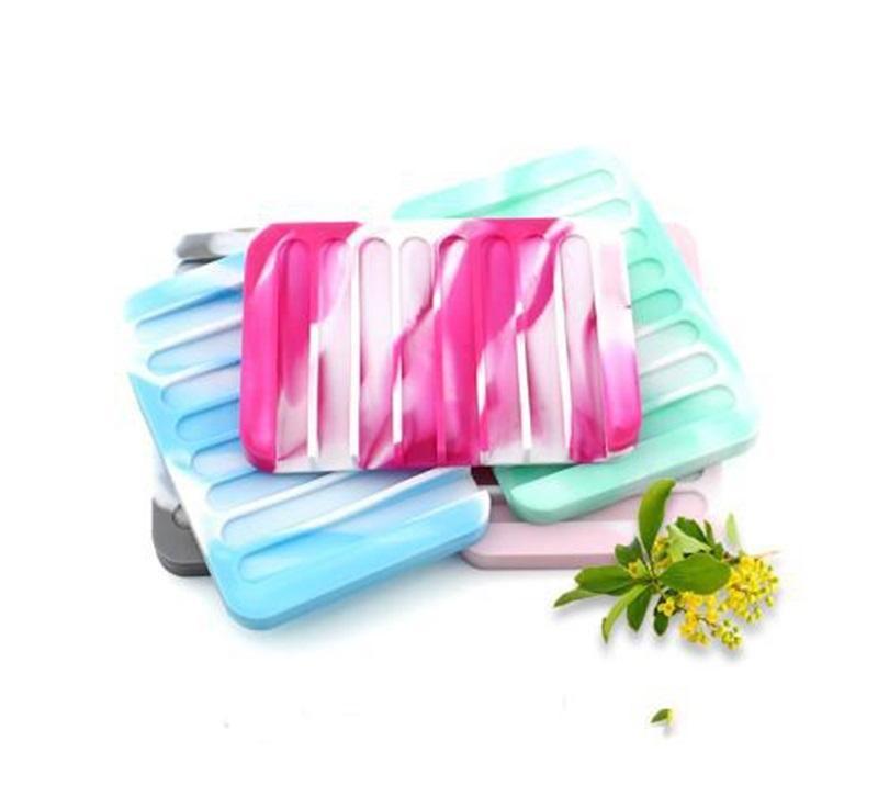 Moda Silicone Flexível Saboneteiro Delicio Titular Da Bandeja Decoration Drenagem Waterfal Para Banheiro Counter Counter Item rentável para Varejo 463 R2