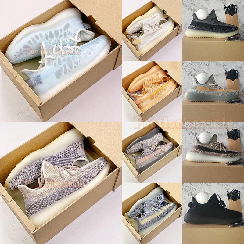 Scarpe da corsa da uomo di alta qualità Kanye Le più recenti 700 v3 Kyanite v2 Cream Sun Bright Blue Designer Sneakers Mono Clay Ice Ash Pearl Stone 500 Trainers