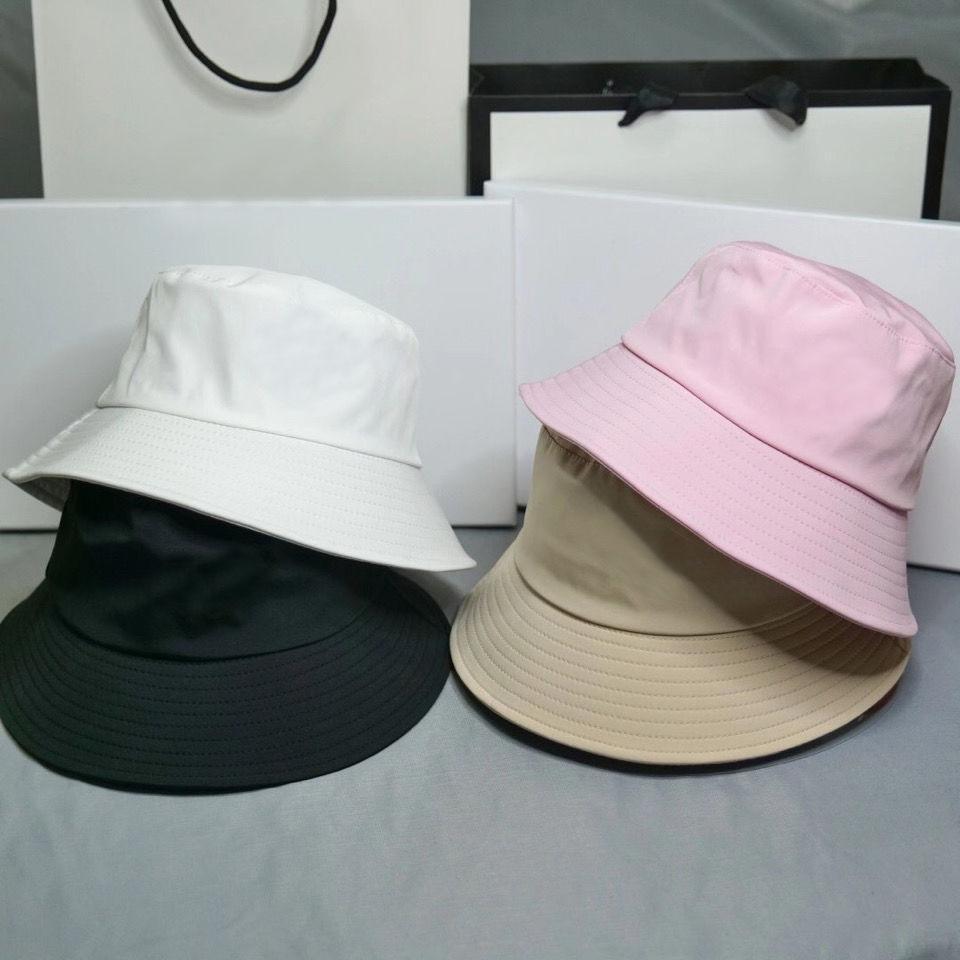 20ss Kova Şapka Kadınlar için Moda Klasik Tasarımcı Kızlar Naylon Kapaklar Sonbahar Bahar Balıkçı Şapka Sun Pelerinler Bırak Gemi