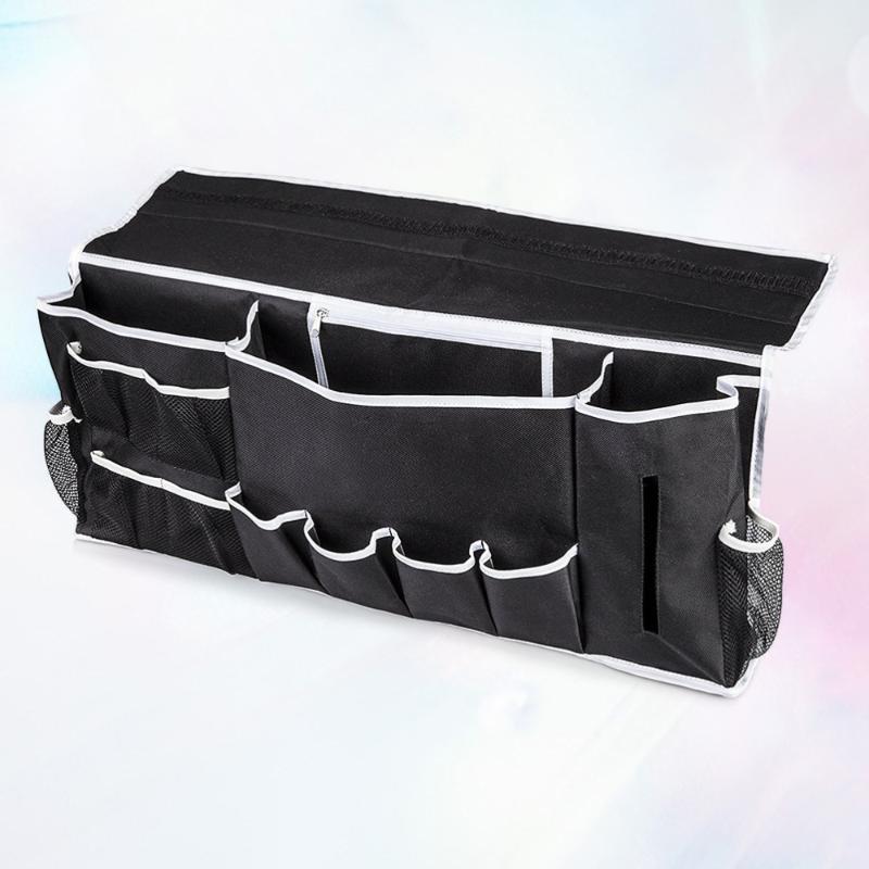 أكياس التخزين السرير العلبة شنقا المنظم مع مساحة الكمبيوتر المحمول 12 جيوب مثالية للغرفة الكلية النوم والسرير سرير كبير