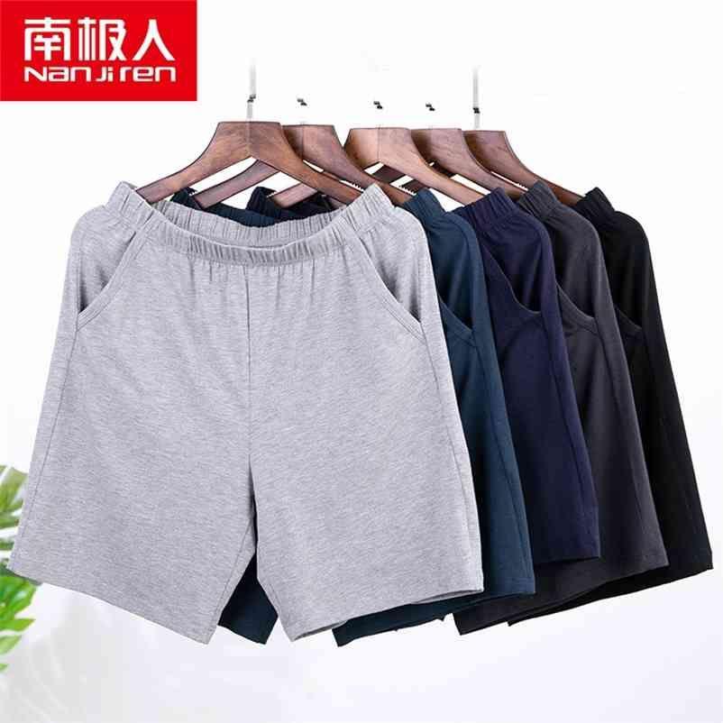 Nanjiren Summer Shorts Homens Moda Marca Respirável Masculino Casual Shorts Confortável Plus Size Fitness Homem Bodybuilding Shorts 210322