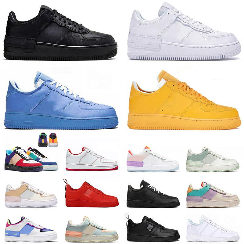 Shadow Hommes Femmes Casual Chaussures Dunks 1 Blanc Off Off MCA Air Utility Black Dunk Airforce Forces forestières Mens Femmes Max Sports Sneakers Formateurs