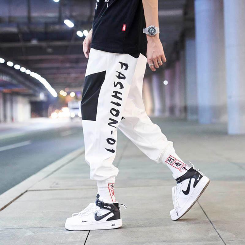 Pantalon d'automne Mens Pantalon Imprimer Pantalons Hip Hop Joggers Men Streetwear Taille élastique Haute Mode Pantalon de survêtement des hommes