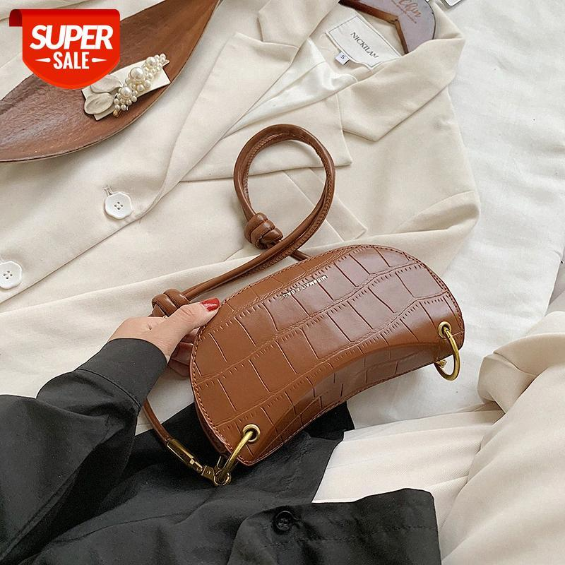[in stock]ins fashion and popular bags women's 2020 autumn winter new stone pattern one-shoulder diagonal small square bag wild #ro5x