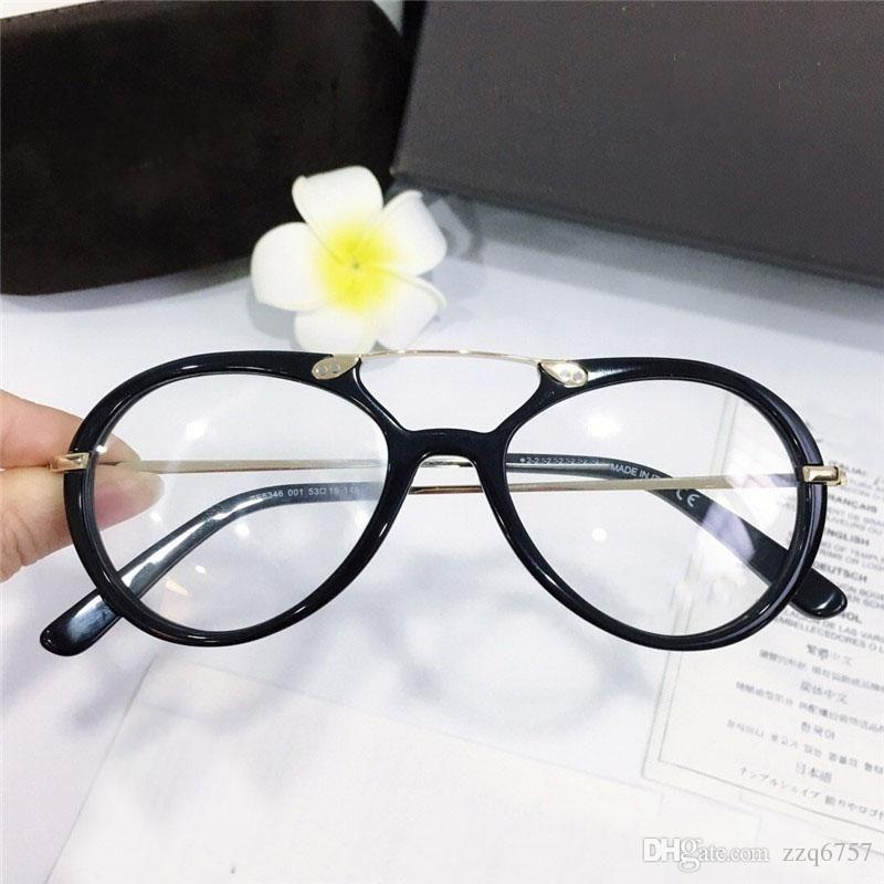 Nuovo Best Selling Moda Occhiali ottici Round Semplice frame Popolare generoso stile Casual Style Transparent Lens telaio 5346