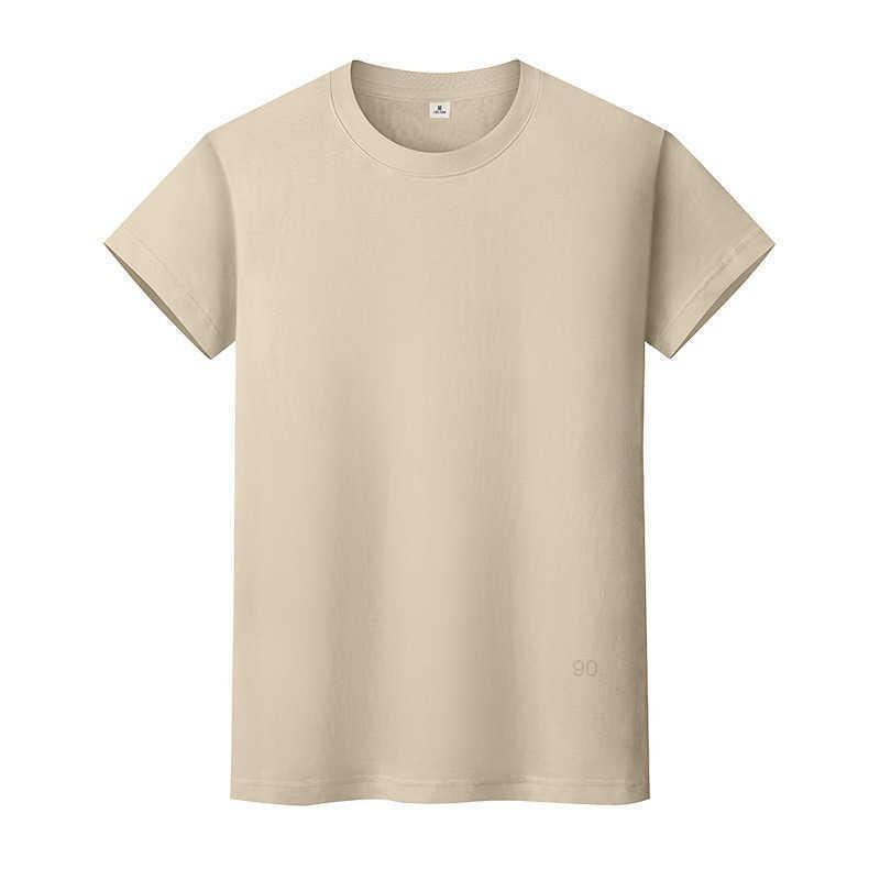 Новая круглая шея сплошная цветная футболка летняя рубашка хлопчатобумажной дна с короткими рукавами и женщинами полусмысление MBWKI