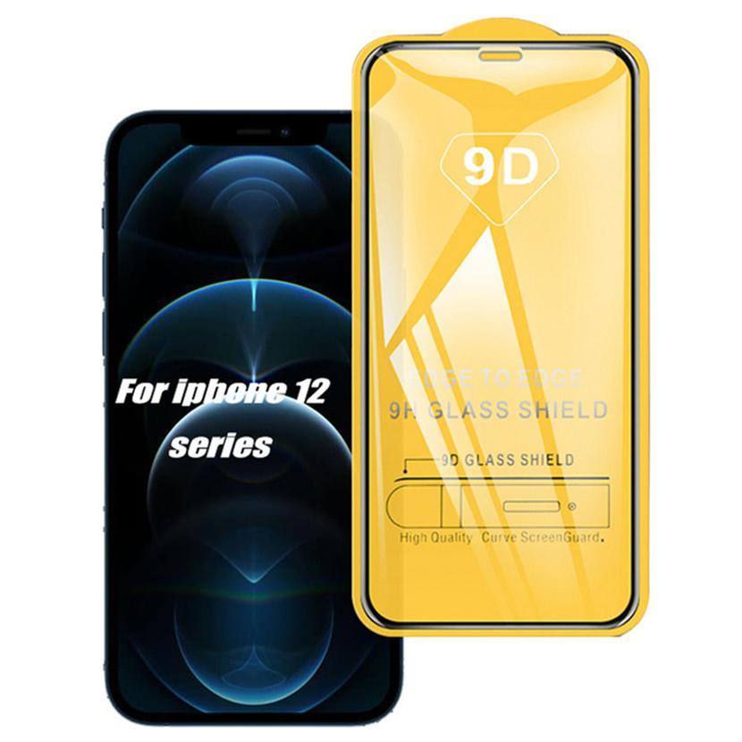 9D 강화 유리 HD 풀 커버 아이폰 12 11 프로 최대 XS XR x 8 삼성 S20 Fe S21 Plus A12 A02S A32 A21S Xiaomi Vivo Huawei