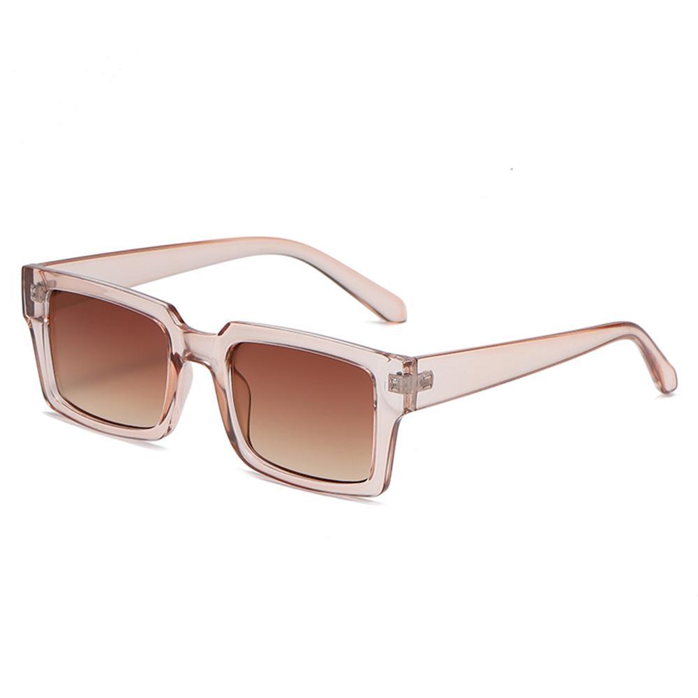 Mode Schwarz Rechteckige Sonnenbrille Frauen Schmaler Quadratmarke Designer Bunte Sonnenbrille Weibliche Eyewear UV400 Oculos de Sol