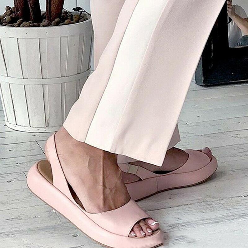 Женщины Сандалии 2021 Флопышки Конфеты Цвет Летний Рим Словением Дышащие Нескользящие Обувь Сандалия Женщина Слайды с твердой женской