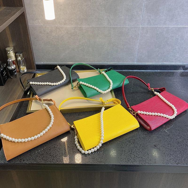 SplAP exclusivo Diseñadores de moda Lujos Hombro Pearl Handbags Venta Monederos Carta Tote Bolsas Pequeñas Tote Mujer Agua 2021 Cadena de cremallera ADGC