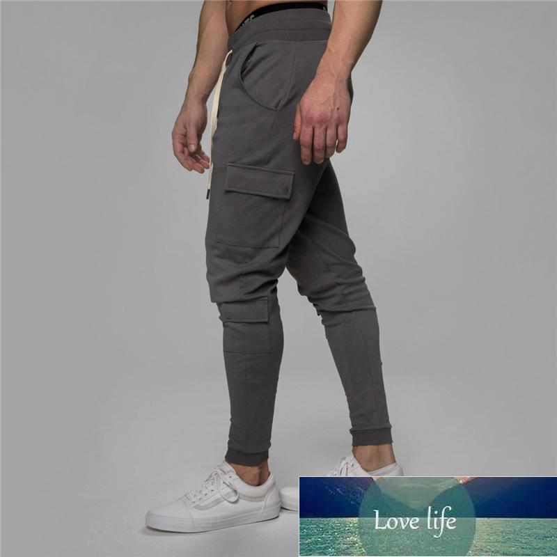 Man Gyms Workout Fitness Brand Trousers Male Casual Skinny Track Pants Multiple pock Pants Mens best-selling Jogger Sweatpants