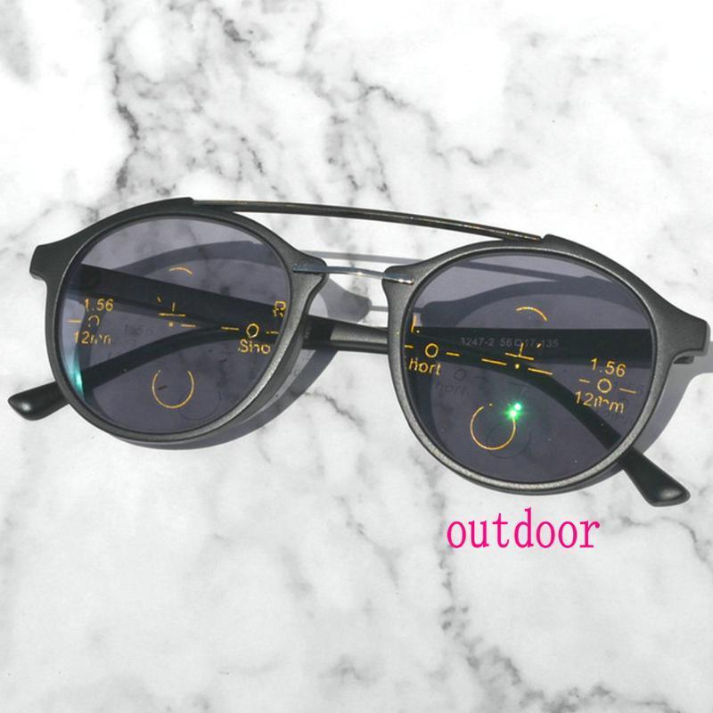 Gafas de lectura poqurómicas progresivas multifocales Mujeres Hombres Dioptrías Gafas de sol gafas de sol Bifocal Gafas de sol para cerca y lejano NX