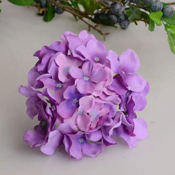 Dekorative Blumen Kränze Künstliche Hortensie Blumenstrauß Blume Seide mit freiem Stamm für Home Hochzeit Dekoration Geschenk TN99
