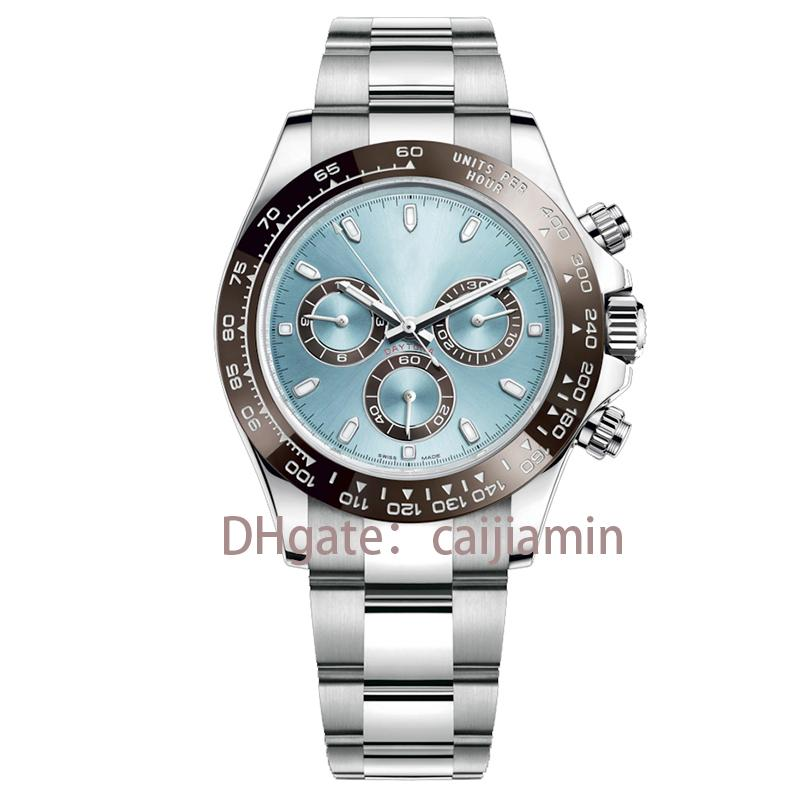 caijiamin-2021 montre de luxe u1 factory Quality 40MM mens watches Sapphire Glass Stainless Steel Automatic Movement Mechanical sky blue Dial Solid Clasp Geneve