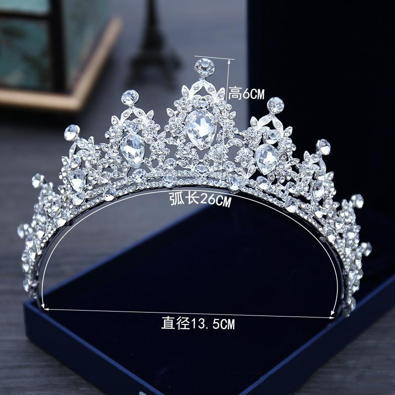 2022 Sparkling Bling Cristal Headpieces Rhinestone Adornado Bridal Crown New Design Noiva Principal Venda Tiaras Acessórios